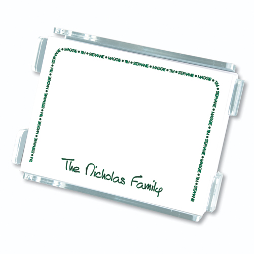 Embossed Graphics Family Arch Reminder