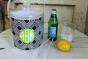 Personalized Acrylic Ice Bucket from Clairebella-Many Options-personalized ice bucket from Clairebella