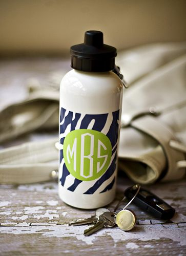 Personalized Water Bottles from Clairebella-Many Options-personalized water bottles from Clairebella, monogrammed water bottles from Clairebella