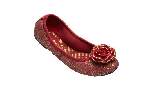 Red Canvas Liz Ballet Flats from Lindsay Phillips-Switch Flops