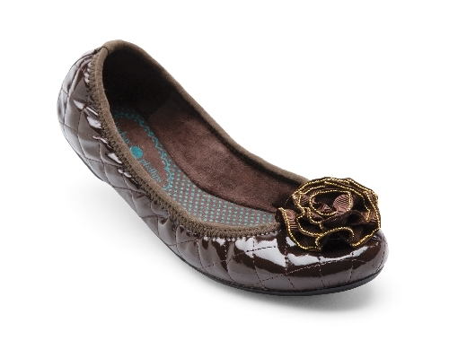 Brown Quilted Liz Ballet Flats from Lindsay Phillips Switch Flops New!
