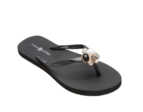Kelli Arched Black Flip Flop-New!