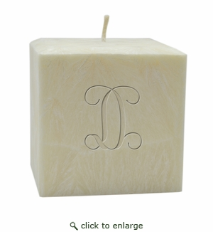 Eco-Friendly Personalized Candles-Initial from Carved Solutions