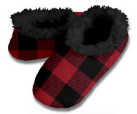 Snoozies Buffalo Plaid Foot Coverings for Men