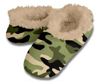 Snoozies Hot Camo Foot Coverings for Men