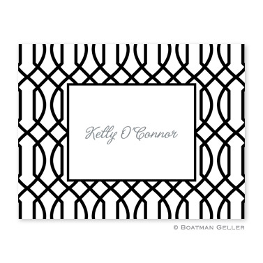 Trellis Reverse Midnight Foldover Note from Boatman Geller