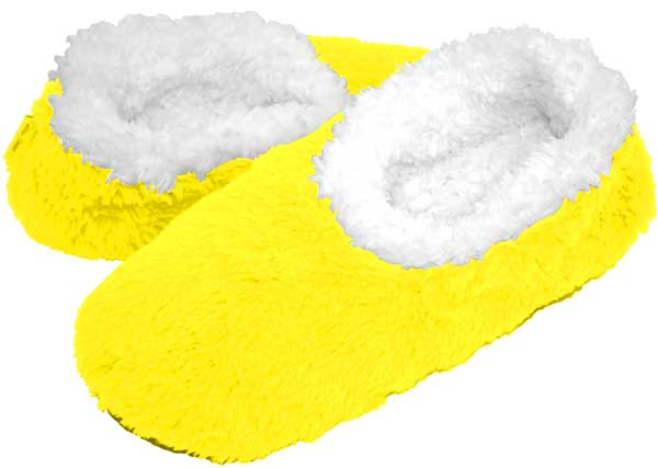 Neon Yellow Snoozies Foot Coverings-New!