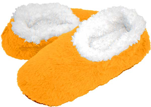Neon Orange Snoozies Foot Coverings-New-snoozies, fleece foot coverings, snoozies foot coverings, snoozies slippers, neon orange snoozies