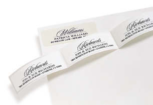 Avalon Address Labels from The Chatsworth Collection