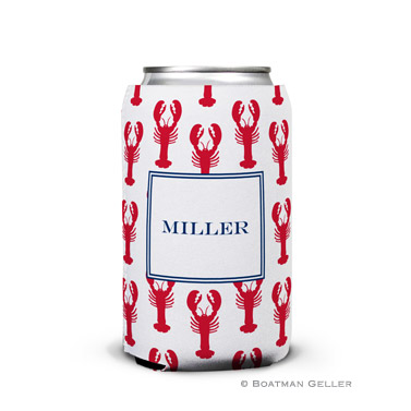 Lobsters Red Personalized Boatman Geller Can Koozies
