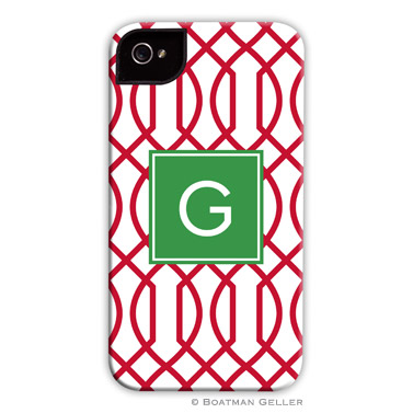 Trellis Reverse Cherry Personalized Boatman Geller Hard Cell Phone Case