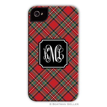 Plaid Red Personalized Boatman Geller Hard Cell Phone and Tech Cases