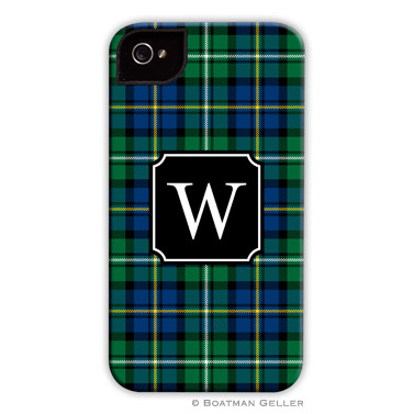 Black Watch Plaid Personalized Boatman Geller Hard Cell Phone Case