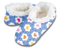 Daisy Hearts Snoozies Foot Coverings
