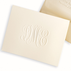 Traditional Monogram Note from Embossed Graphics