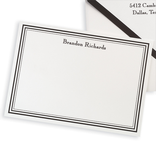Colonial Card from Embossed Graphics-embossed graphics, foldover notes, anthony notes, monogram notes, note cards