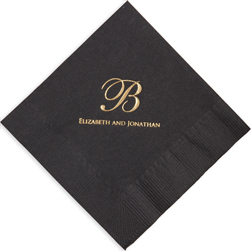 Wedding Foil Stamped Serenity Napkins from Embossed Graphics
