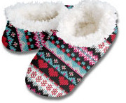 Fair Isle Hot Mocs Snoozies Foot Coverings-New!