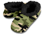 Snoozies Camo Foot Coverings for Men