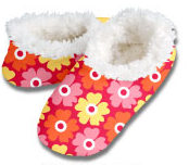Poppies Red Snoozies Foot Coverings-New!
