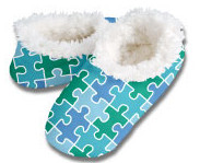 Puzzle Pieces Snoozies Foot Coverings-New!