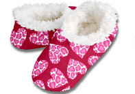 Leopard Hearts Snoozies Foot Coverings-New!