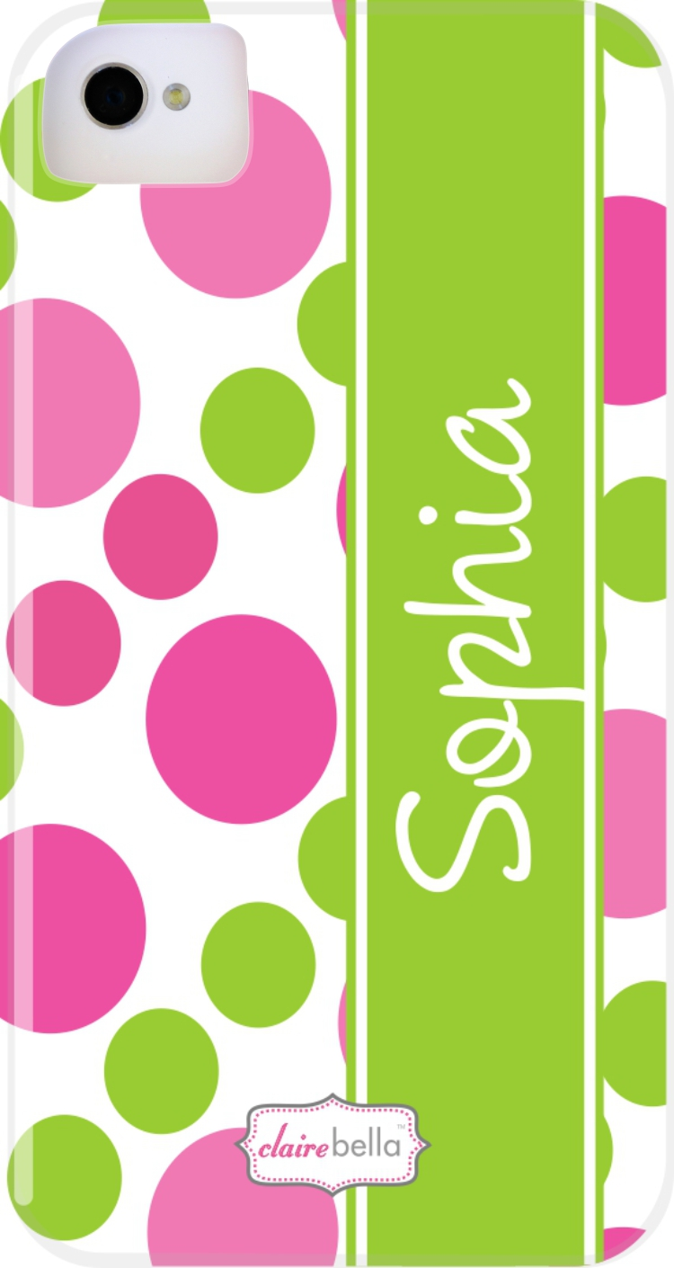 Doodle Dots Pink Cell Phone Cases from Clairebella