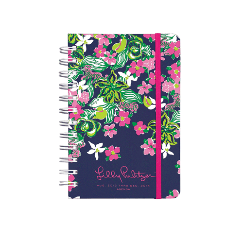 2013/2014 Pocket 17 Month Agenda from Lilly Pulitzer Tiger Lilly