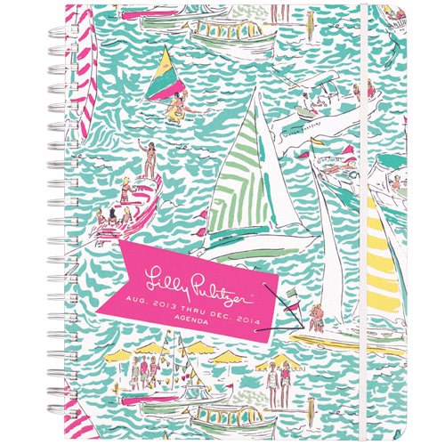 2013/2014 Jumbo 17 Month Agenda from Lilly Pulitzer Get Nauti