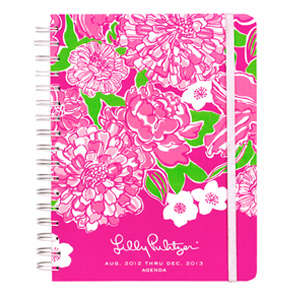 17-Month 2012-2013 Large Agenda from Lilly Pulitzer-May Flowers