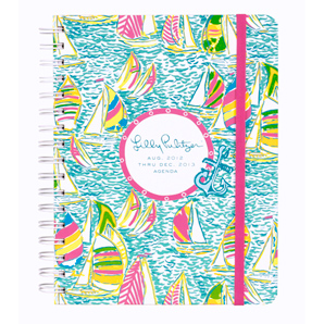 17-Month 2012-2013 Large Agenda from Lilly Pulitzer-Ugotta Regotta