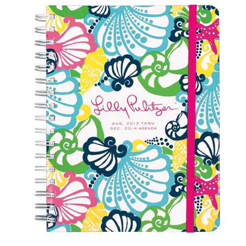 2013/2014 Large 17 Month Agenda from Lilly Pulitzer Chiquita Bonita-lilly pulitzer large agenda navy bloomers, 17 month large agenda, 17 Month 2013/2014 Large Agenda from Lilly Pulitzer Chiquita Bonita