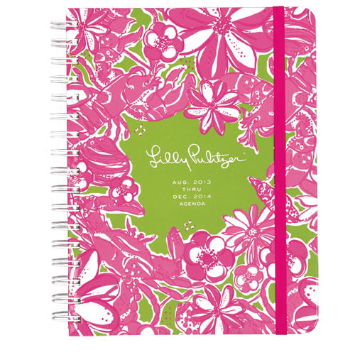 2013/2014 Large 17 Month Agenda from Lilly Pulitzer Coronado Crab