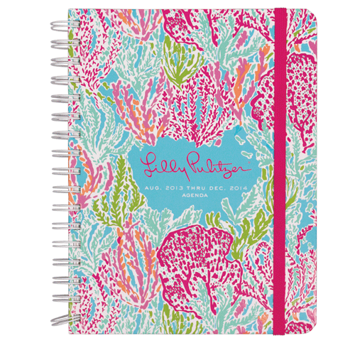 2013/2014 Large 17 Month Agenda from Lilly Pulitzer Let's Cha Cha