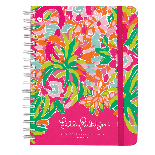 2013/2014 Large 17 Month Agenda from Lilly Pulitzer Lulu