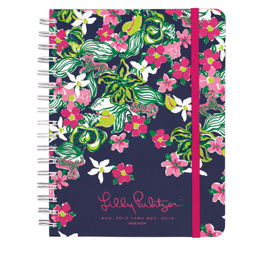 2013/2014 Large 17 Month Agenda from Lilly Pulitzer Tiger Lilly-lilly pulitzer large agenda navy bloomers, 17 month large agenda, 17 Month 2013/2014 Large Agenda from Lilly Pulitzer Tiger Lilly