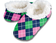 Navy Arglye Snoozies Foot Coverings
