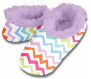 Chevron Stripes Snoozies Fleece Foot Coverings-New!
