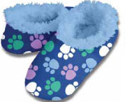Dog Paws Blue Snoozies Fleece Foot Coverings-New!