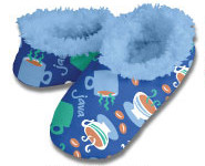 Java Joe Blue Snoozies Fleece Foot Coverings-New!