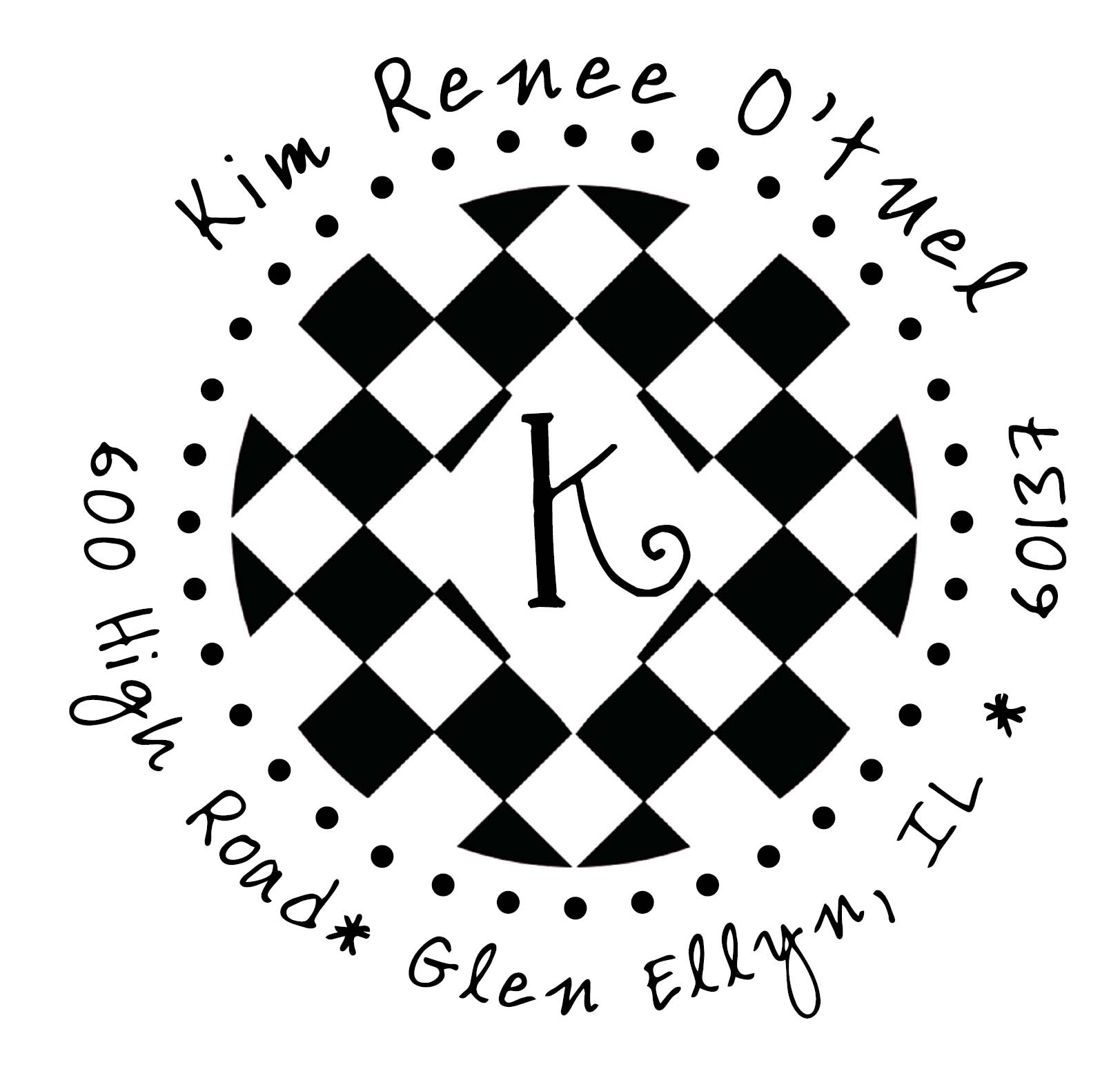 PJ Invites Monogram Stamp Designs