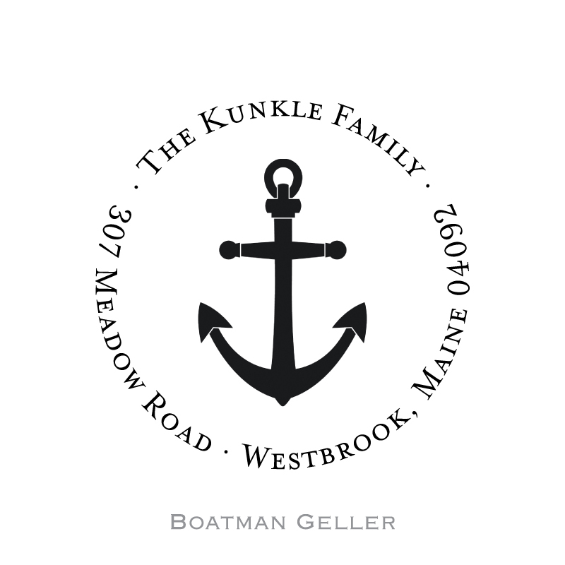 Custom Self Inking Anchor Stamper from Boatman Geller-personalized self-inking stamper from boatman geller, anchor stamper from boatman geller