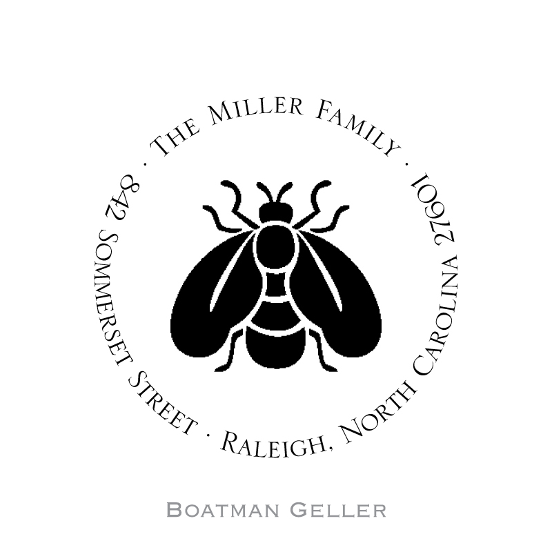 Custom Self Inking Napoleon Bee Stamper from Boatman Geller-personalized self-inking stamper from boatman geller, napoleon bee stamper from boatman geller