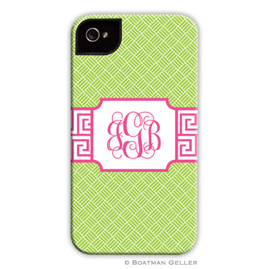 Greek Key Band Pink Personalized Boatman Geller Hard Cell Phone and Tech Cases