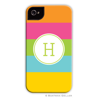 Bold Stripe Personalized Boatman Geller Hard Cell Phone and Tech Cases