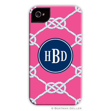 Nautical Knot Raspberry Personalized Boatman Geller Hard Cell Phone and Tech Cases