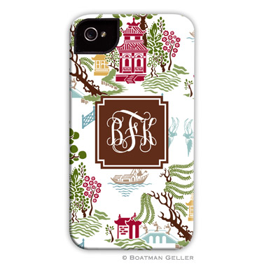 Chinoiserie Autumn Personalized Boatman Geller Hard Cell Phone and Tech Cases