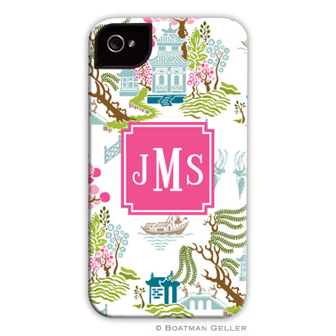 Chinoiserie Spring Personalized Boatman Geller Hard Cell Phone and Tech Cases