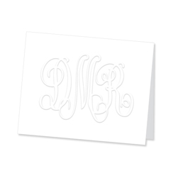 Large Henley Monogram Note from Embossed Graphics