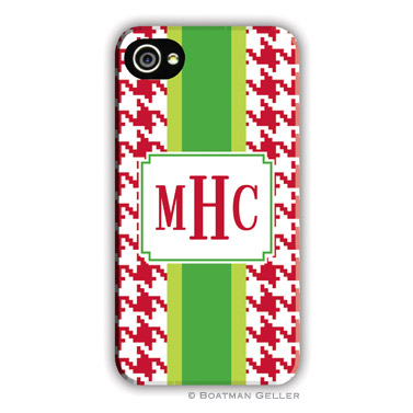 Alex Houndstooth Red Personalized Boatman Geller Hard Cell Phone Case-hard cell phone cases from boatman geller, iphone cell phone cases, blackberry cell phone cases, samsung cell phone cases, Alex Houndstooth Red Personalized Boatman Geller Hard Cell Phone Case